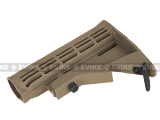 WE-Tech Nylon Fiber Reinforced Retractable LE Stock for M4 / M16 Airsoft AEG & GBB - (Dark Earth)