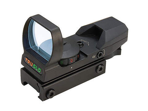 TruGlo Multi-Reticle Dual Color Open Red / Green Dot Sight (Color: Black)
