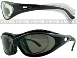 EDGE Tactical Polycarbonate Low Profile Shooting Goggles  (Tinted Lens)