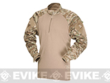 Tru-Spec Tactical Response Uniform 1/4 Zip Combat Shirt (Color: All-Terrain Tiger Stripe / Small)