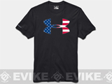 Under Armour Men's UA Big Flag Logo T-Shirt - Black (Medium)