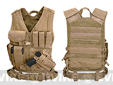 XL-XXXL (Adjustable) Cross Draw Tactical Vest - Tan