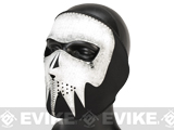 Zan Neoprene Glow-in-the-Dark Full Face Mask - Gray Skull