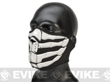 Zan Neoprene Glow-in-the-Dark Half Face Mask - Bone Breath