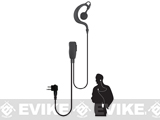 Code Red Headsets Watchman Lapel Microphone w/ PTT (Connector: Motorola 2 Pin)