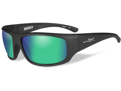 Wiley X Knife Sunglasses (Color: Polarized Emerald Mirror lens With Matte Black Frame)