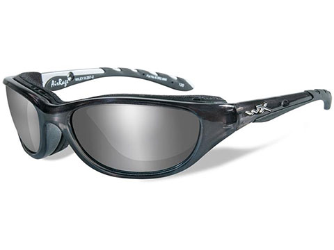Wiley X Airrage Sunglasses (Color: Polarized Silver Flash lens with Crystal Metallic frame)
