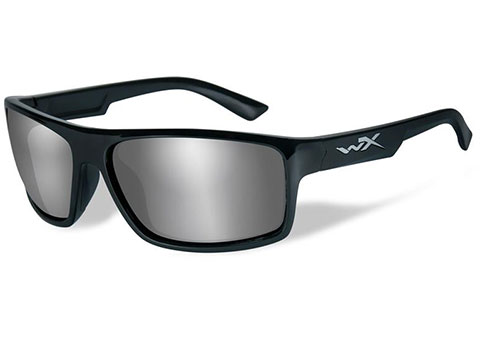e9ea1608de Wiley X Peak Polarized Sunglasses (Color  Silver Flash lens with Gloss  Black Frame)