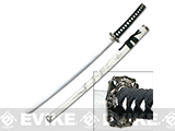 Master Cutlery Carved Dragon Decorative 40.25 Samurai Sword with Scabbard - Black and White