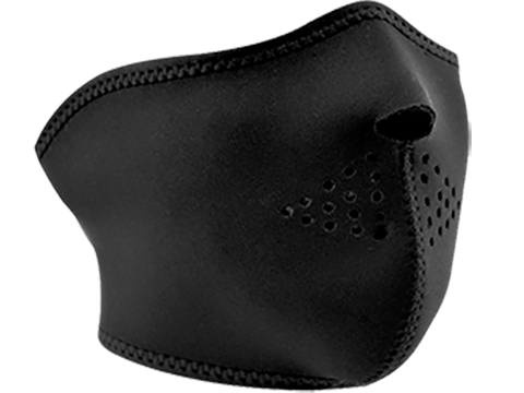 Zan Neoprene Oversized Half Face Mask (Color: Black)
