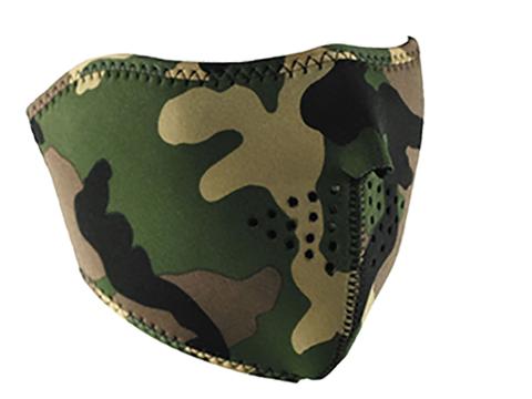 Zan Neoprene 1/2 Face Mask (Color: Woodland Camo)