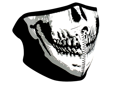 Zan Neoprene 1/2 Face Mask (Color: Skull Face)