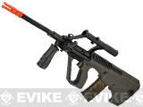 JG Newest Version AUG MIL Full Length Airsoft AEG Rifle w/ Integrated Scope - OD