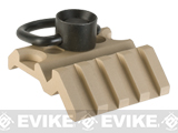 Avengers Airsoft KeyMod QD Sling Swivel & 45 Degree Rail Mount - Dark Earth