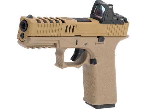 AW Custom VX7 Series Gas Blowback Airsoft Pistol (Model: X80 - Optic Ready / CO2 / FDE)