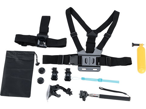 Ausek Sport Cameras Accessory Pack for Ausek and GoPro Style Action Cameras (Model: 10-piece Kit)