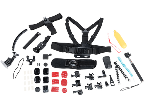 Ausek Sport Cameras Accessory Pack for Ausek and GoPro Style Action Cameras (Model: 50-piece Kit)