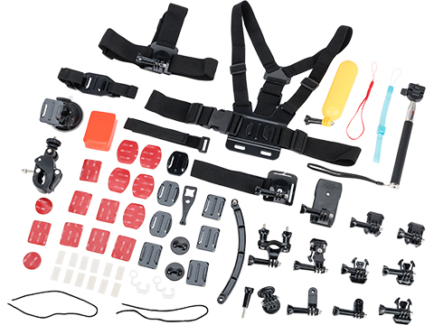 Ausek Sport Cameras Accessory Pack for Ausek and GoPro Style Action Cameras (Model: 70-piece Kit)