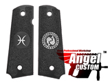 Angel Custom CNC Machined Tac-Glove Universal Grips for 1911 Series Pistols (Color: Black / Pisces)