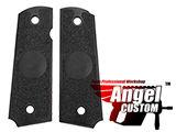 Angel Custom CNC Machined Tac-Glove  Grips for WE-Tech 1911 Series Airsoft Pistols (Color: Black)