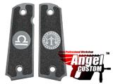Angel Custom CNC Machined Tac-Glove Universal Grips for 1911 Series Pistols (Color: Dark Grey / Libra)