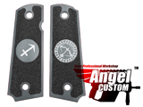 Angel Custom CNC Machined Tac-Glove Universal Grips for 1911 Series Pistols (Color: Dark Grey / Sagittarius)