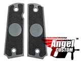Angel Custom CNC Machined Tac-Glove Universal Grips for 1911 Series Pistols (Color: Dark Grey / Blank)