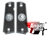 Angel Custom CNC Machined Tac-Glove Universal Grips for 1911 Series Pistols (Color: Dark Grey / Virgo)