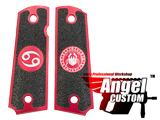 Angel Custom CNC Machined Tac-Glove Zodiac Grips for WE-Tech 1911 Series Airsoft Pistols - Red(Sign: Cancer)