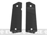 FMA Textured Ergonomic Polymer 1911 Grips - (FRAG Pattern) Black
