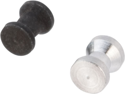 Angel Custom CNC Metal H-Hop Hopup Spacer For All Airsoft AEG (Type: Set of 2 / Black & Silver)