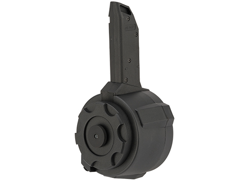 Angel Custom 1500 Round Firestorm Airsoft AEG Drum Flashmag (Color: Black / Vector Adapter)