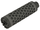 Angel Custom HIVE Airsoft Suppressor Barrel Extension (Model: 130mm / 14mm Neg. / Black)