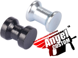 Angel Custom CNC Metal H-Hop Hopup Spacer For All Airsoft AEG (Set of 2 / Black & Silver)