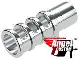 Angel Custom CNC Aluminum Compensator for TM / WE 1911 Series Airsoft GBB Pistols - Silver