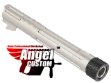 Angel Custom CNC Aluminum Outer Barrel for Tokyo Marui KJW 5.1 Hi-Capa Series Airsoft GBB Pistols - SV Chrome