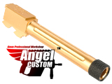 Angel Custom CNC Aluminum Outer Barrel for KWA ATP Series Airsoft GBB Pistols (Model: Fluted Gold)