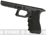 APS Frame with Custom Stippling for WE and Marui G-series Airsoft Pistols - Black