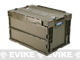 Laylax Tactical Folding Military Storage Box Container - Olive Green