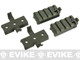 ARC / ACH / Bump Type Helmet Rail Mount Set - OD Green