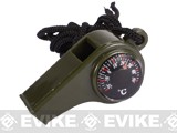 Matrix Survival Whistle w/ Integrated Compass & Thermometer