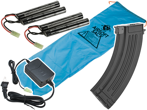 Evike Go Airsoft Base Essentials AEG Starter Package (Series: AK47 / 9.6 Butterfly)