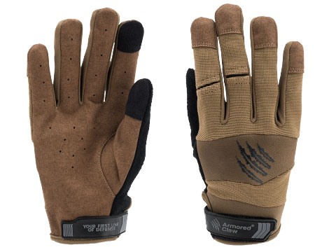 Armored Claw Accuracy Hot Weather Tactical Glove (Color: Coyote / Small)