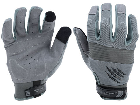 Armored Claw CovertPro Hot Weather Tactical Glove (Color: Grey / Large)