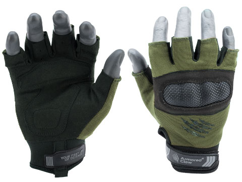 Armored Claw Shield Cut Hot Weather Tactical Glove (Color: Olive / Medium)