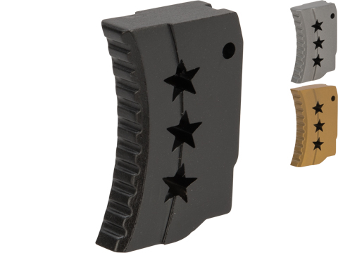 Angel Custom CNC Tri-StaR Stainless Steel Trigger for Tokyo Marui Hi-Capa Airsoft Pistols