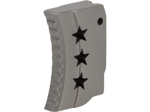 Angel Custom CNC Tri-Star Stainless Steel Trigger for Tokyo Marui Hi-Capa Airsoft Pistols (Color: Silver)