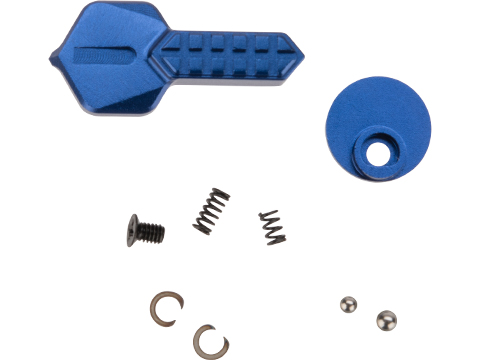 Angel Custom HEX CNC Selector Switch for M4/M16 Series Airsoft AEGs (Color: Blue)