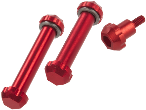 Angel Custom HEX Take Down Pin Set for M4/M16 Series Airsoft AEGs (Color: Red)