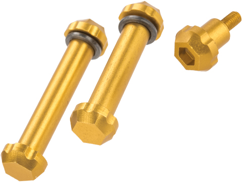 Angel Custom HEX Take Down Pin Set for M4/M16 Series Airsoft AEGs (Color: Gold)